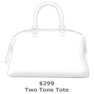 sterling & hyde custom handbags - Two Tone Tote $299.00    http://sterlingandhydecustom.com