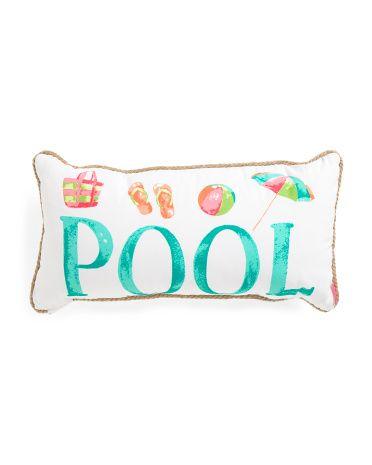 14x27+Indoor+Outdoor+Pool+Pillow $17.