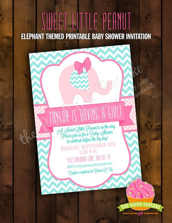 Printable Baby Shower Invitation Design  by papercupcakedesigns, $17.00