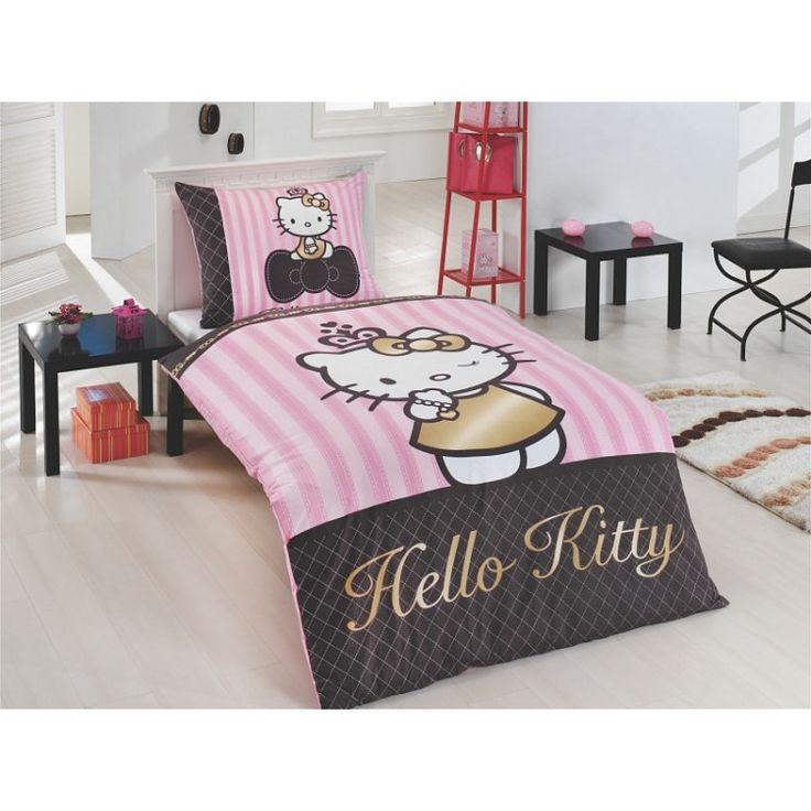 Pussilakanasetti Hello Kitty Gold