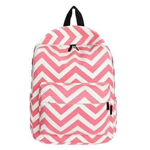 Oferta: 12.97€. Comprar Ofertas de Clode® Nuevo bolso lindo señoras chicas Moire lienzo bolsa mochila mochila escuela de hombro (Rojo) barato. ¡Mira las ofertas!