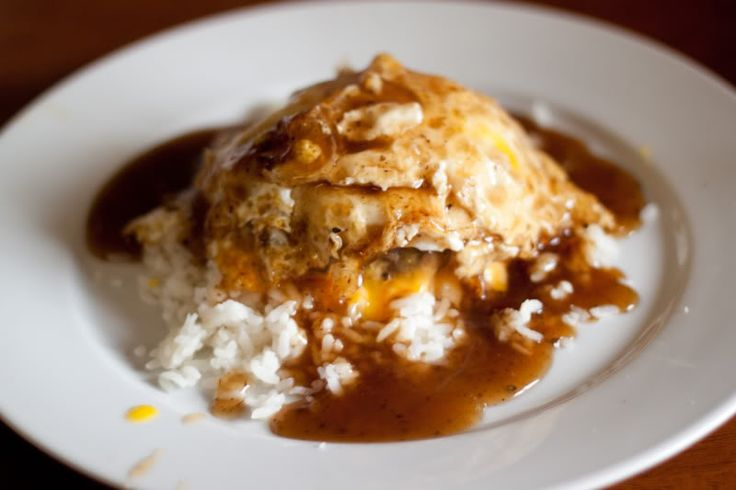 Loco moco is a Hawaiian dish and popular breakfast meal on the islands. It's the ultimate breakfast meal prior to a big workday, consisting of rice, a hamburger patty, fried eggs, and brown gravy. Its unique mix of ingredients create a distinct taste that I've been missing lately, so I decided to whip one up the other day.