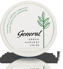 General Green Harvest. Eco snus which I must try out next time.