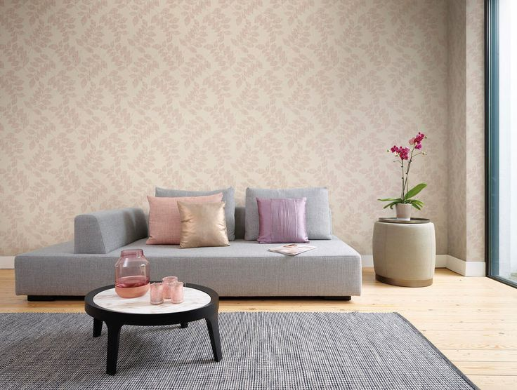 Modern Classic Satin Luxury Tan Leaf Branches Wallpaper R3771