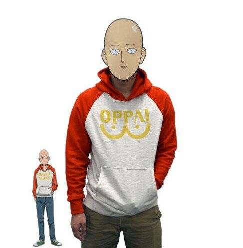 One Punch Man Hero Saitama Oppai Hoodie from the series