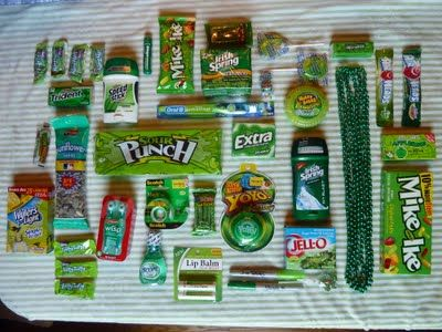 Greenie Care package- my brothers not a greenie but still a great idea