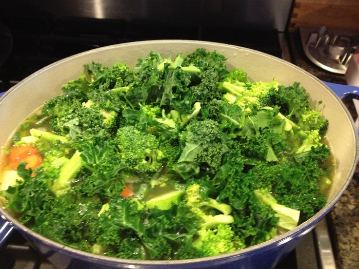 garbage soup so I don't forget to do step 1! Broccoli cheddar garbage ...