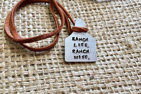 Cattle Tag Necklace Ranch Wife Necklace Ear Tag Necklace