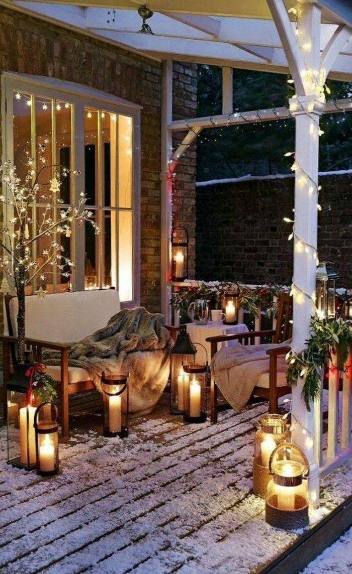 Les Guirlandes Lumineuses De Noel En 46 Photos Deco Chambre Romantique Decoration Chambre Romantique Decoration Exterieur