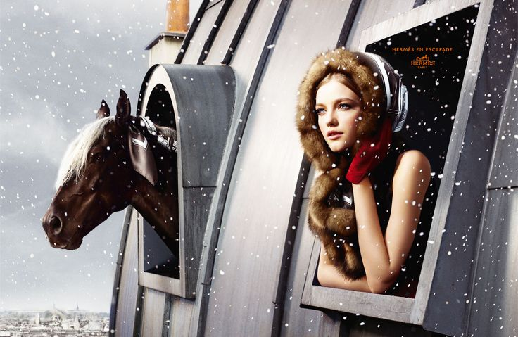 Paris. Snow. Rocky Mountain Horse. (Hermes FW 2007)