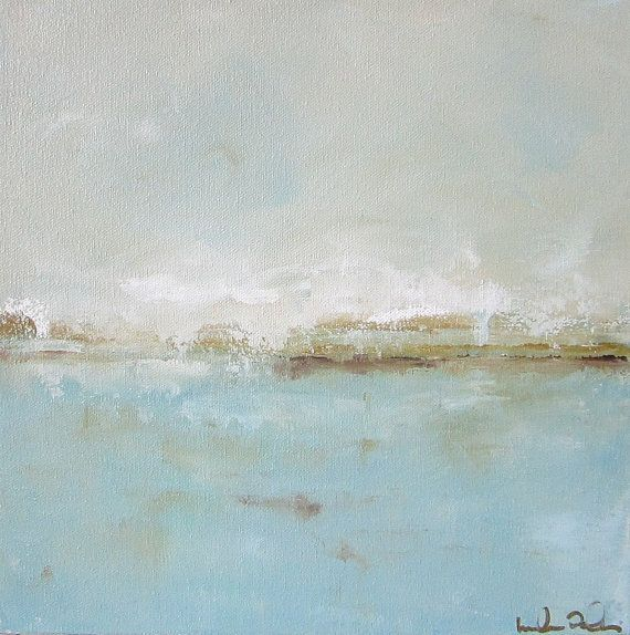 Blue Ocean Painting Seascape Original Art Pretty by lindadonohue