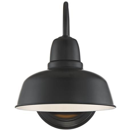 "Urban Barn 11 1/4"" High Black Indoor-Outdoor Wall Light"