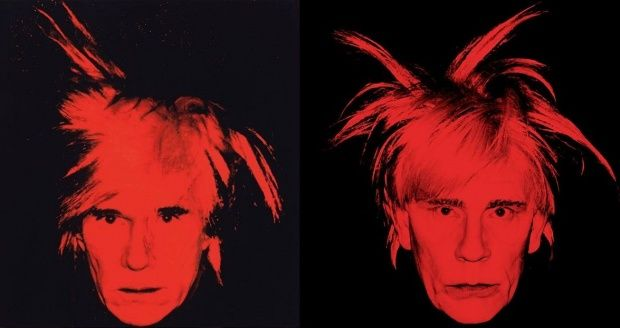 Andy Warhol: Self Portrait with Fright Wig