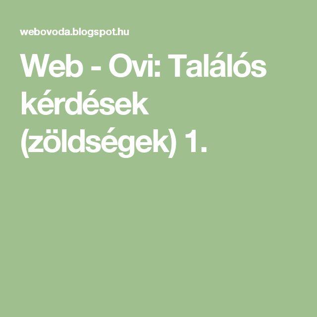 Web - Ovi: Találós kérdések (zöldségek) 1.