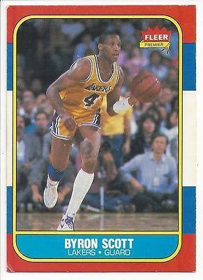 1986 Fleer Basketball 99 Byron Scott Lakers