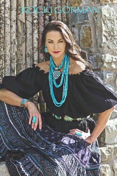 Rocki Gorman's turquoise jewelry