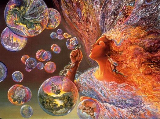'Bubble Flower' by Josephine Wall. I actually have a puzzle of this. I wonder where it is, lol.