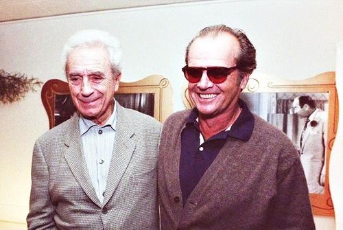 Michelangelo Antonioni and Jack Nicholson #MichelangeloAntonioni #director #neorealism #italian #neorealismo #cinema #movie #regista #antonioni #nicholson