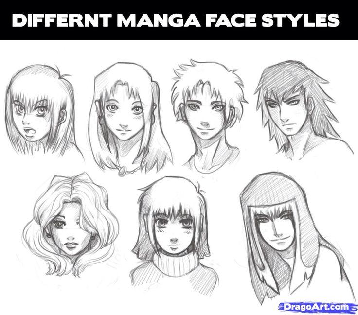 How To Draw Manga Heads Step 1