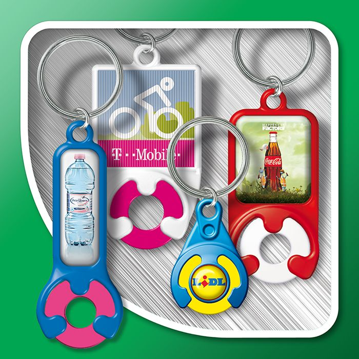 Keyrings with token (standard shapes)