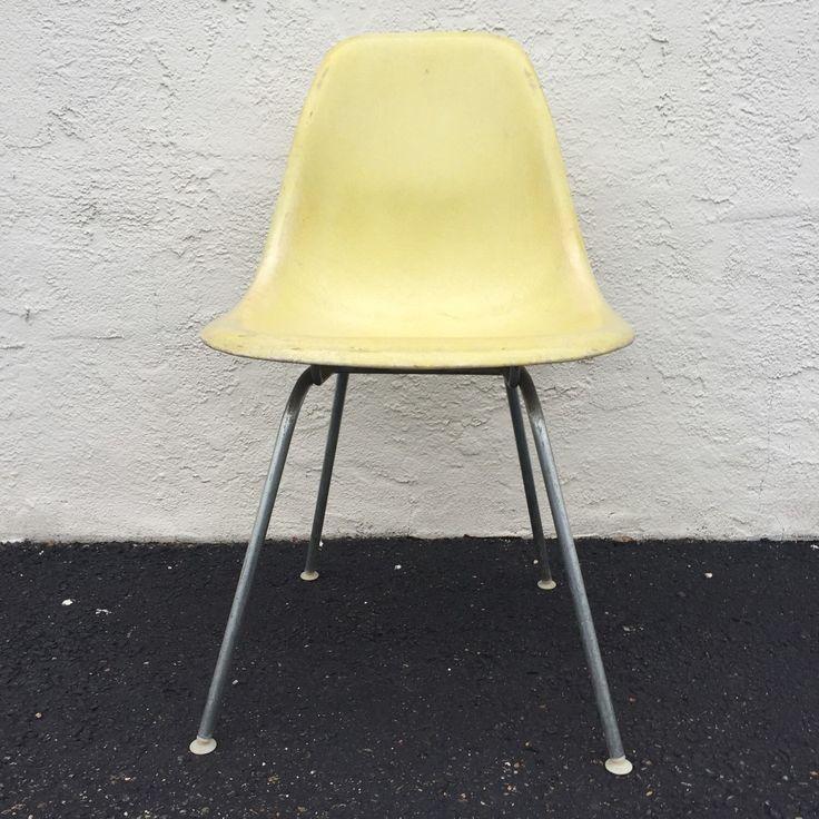 Mid Century Fiberglass Eames Chair for Herman Miller by asburyparkvintage on Etsy https://www.etsy.com/listing/267092566/mid-century-fiberglass-eames-chair-for