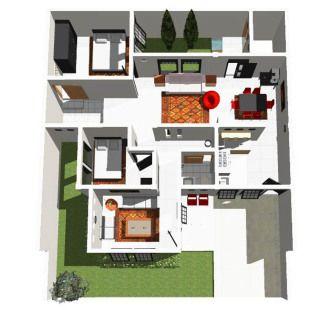 Gambar Denah Rumah Minimalis 1 Lantai Type 36
