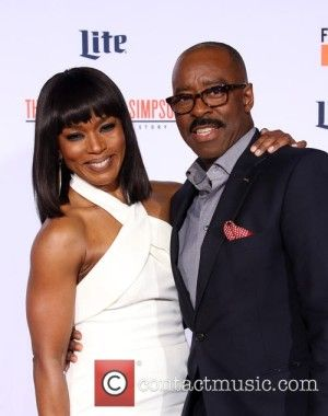 "Actor Courtney B. Vance and Wife Angela Bassett on the Carpet at ""The American Crime Story"" The People vs. OJ Simpson Premiere"