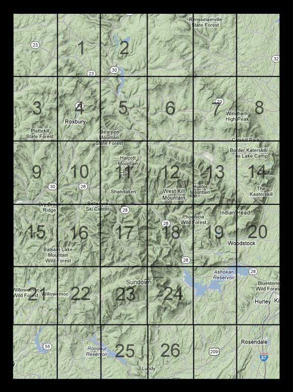 usgs map finder for catskill mountains