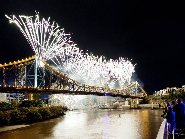 What better way to view the amazing Riverfire displays than from the MICAT - right next to the story bridge!  Call us now to book your spot! #fireworks #brisbane #riverfire