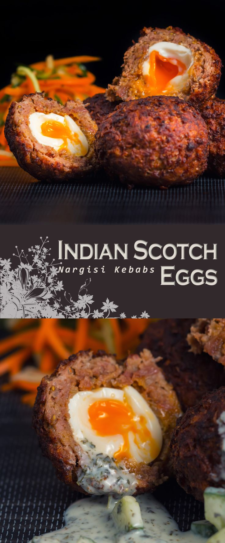 Indian Scotch Egg or Nargisi Kebab Recipe: I love Scotch Egg & I have been tring to replicate an Indian version, the Nargis Kebab for quite some time and by jove I think I have cracked it!