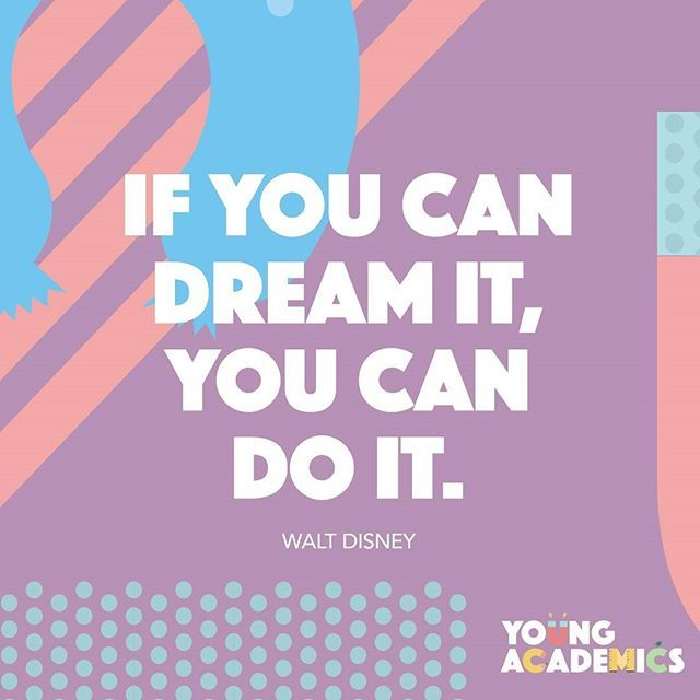 A few wise words for your Wednesday from Walt Disney... Dream big, Young…