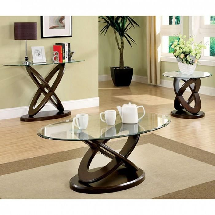 Furniture Of America Atwood Ii 3 Pc Occasional Table Set Mesas