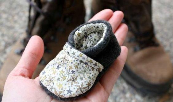 tuto couture chaussons bébé                                                                                                                                                      Plus