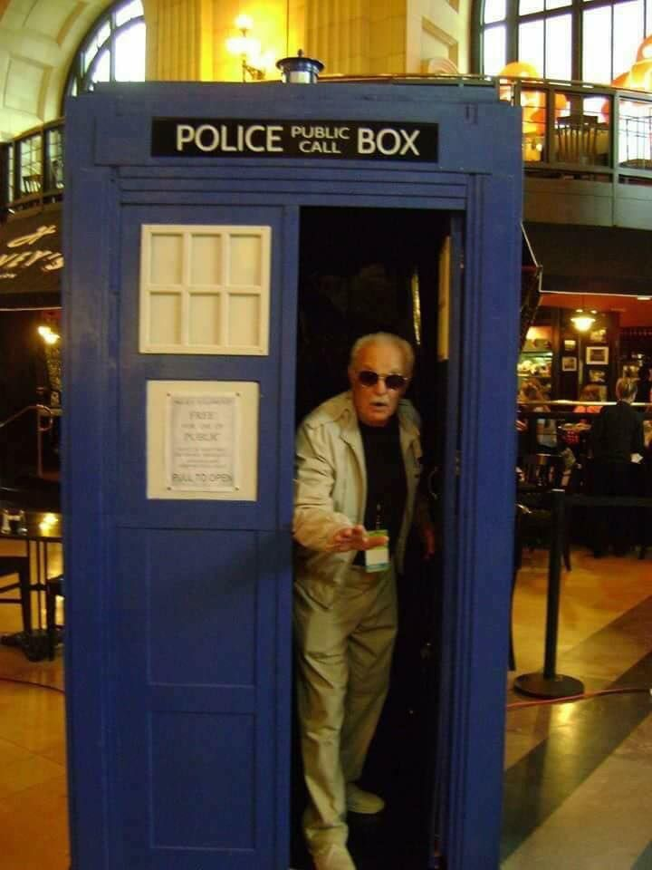 Stan Lee has the TARDIS..... Your argument is invalid