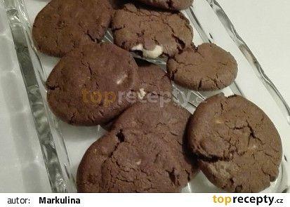 Kakaové sušenky s kousky čokolády recept - TopRecepty.cz