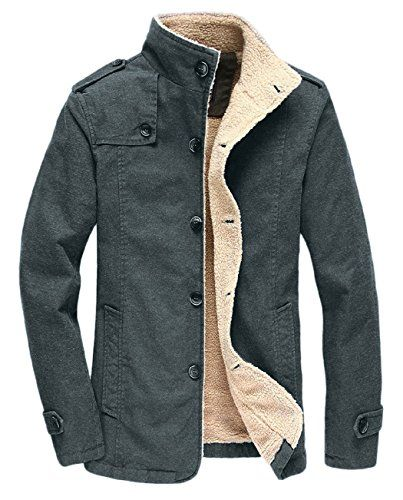 1d5df8219 Chic HOW'ON Men's Winter Fleece Casual Cotton Jacket Military Cargo Jacket  Outwear Parka Winter Coat Mens Fashion Clothing. [$49.98 - 54.98]  nanaclothing ...