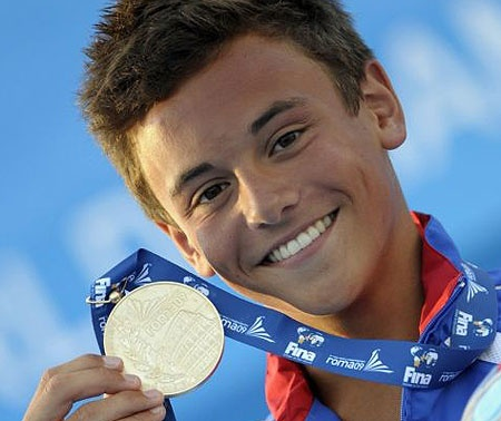 Tom Daley. I usually don't root for the other teams, but ohmygawsh, you'd have to be blind to not want him to win!!