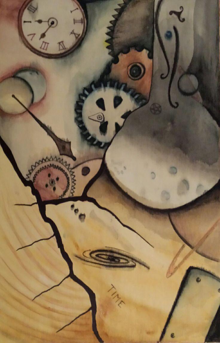 Watercolor on wood - Gioia Seguso
