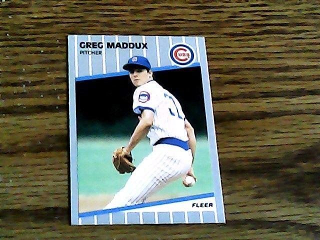 Fleer 1989 greg maddux cubs card 431