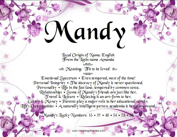 Meaning Of Names #Mandy