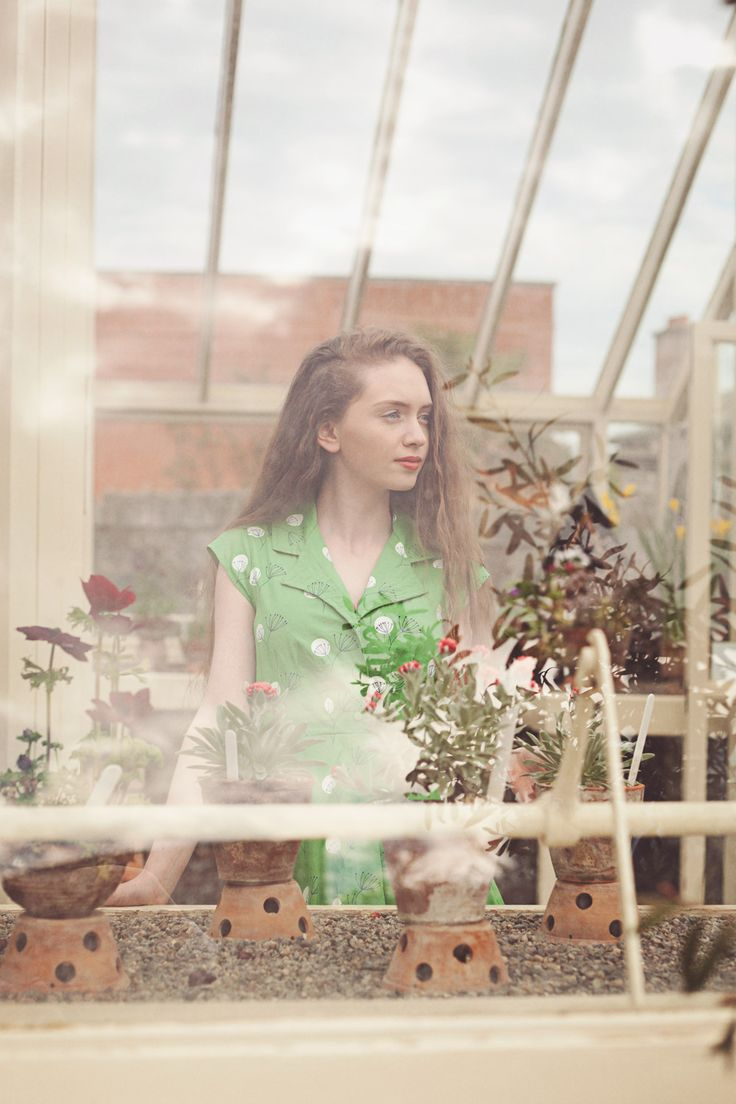 #1950's style green #retro #shirt dress from Circus