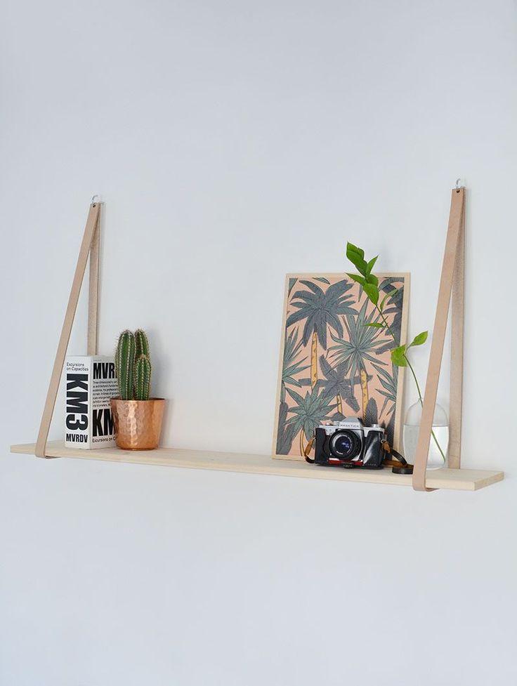 DIY | easy leather strap shelf | burkatron | DIY + lifestyle blog