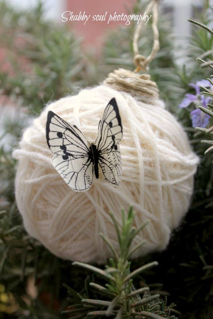 Shabby soul: Waiting for Christmas - DIY wool Christmas tree decorations TUTORIAL