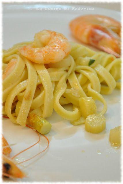 La cucina di Federica: Tagliatelle con asparagi e gamberi