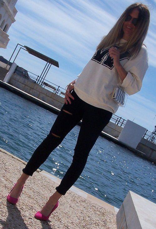 Love Sudaderas¡¡¡¡¡  , Zara (new collection) em T-Shirts/Camisetas, Zara (new collection) em Jeans, Zara (new collection) em Saltos/Plataformas, Zara (new collection) em Clutches/Bolsa Carteira, Ray Ban em Óculos/Óculos de Sol, Juicy Couture em Jóias