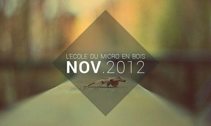 Playlist Novembre 2012 - L'école du Micro en Bois     http://lecoledumicroenbois.com/playlist-novembre-2012/