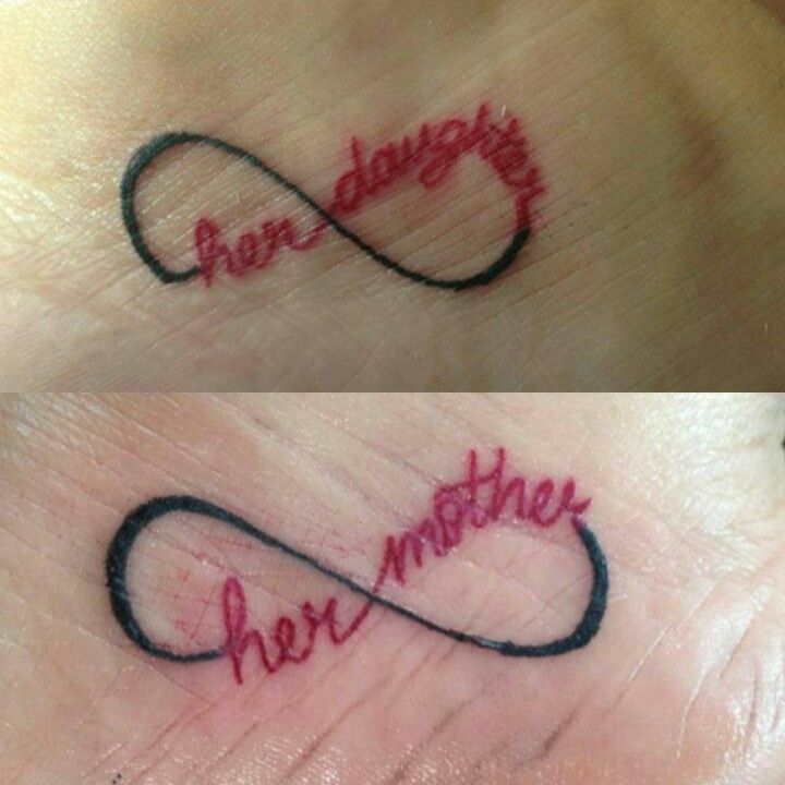 Daughter Mother Infinity Tattoos