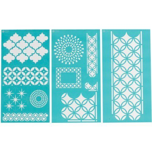 "Amazon.de: Plaid:Craft Martha Stewart Large Stencils 3 Sheets/Pkg-Arabesque 8.75""X16.75"" 11 Designs by Plaid:Craft"