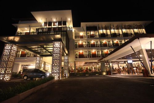 Sun Island Hotel Kuta facade. The 4-star Kuta hotel is located on famous Jalan Kartika Plaza, close to all excitement!