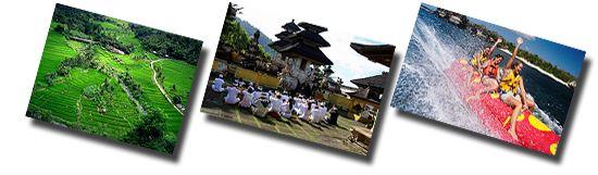 water sport/bali temple/jatiluwih rice terrace